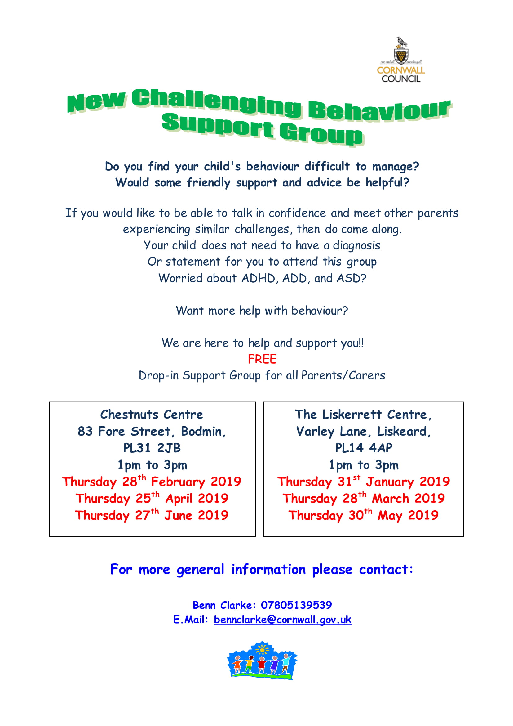 Challenging Behaviour Support Groups Flyer 1