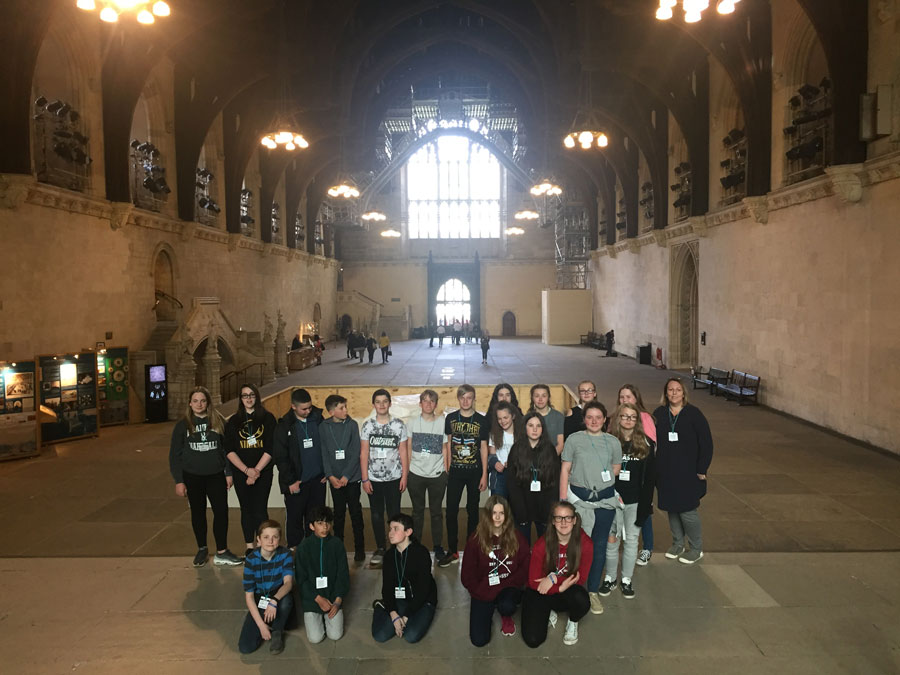 Students in Houses of Parliament website