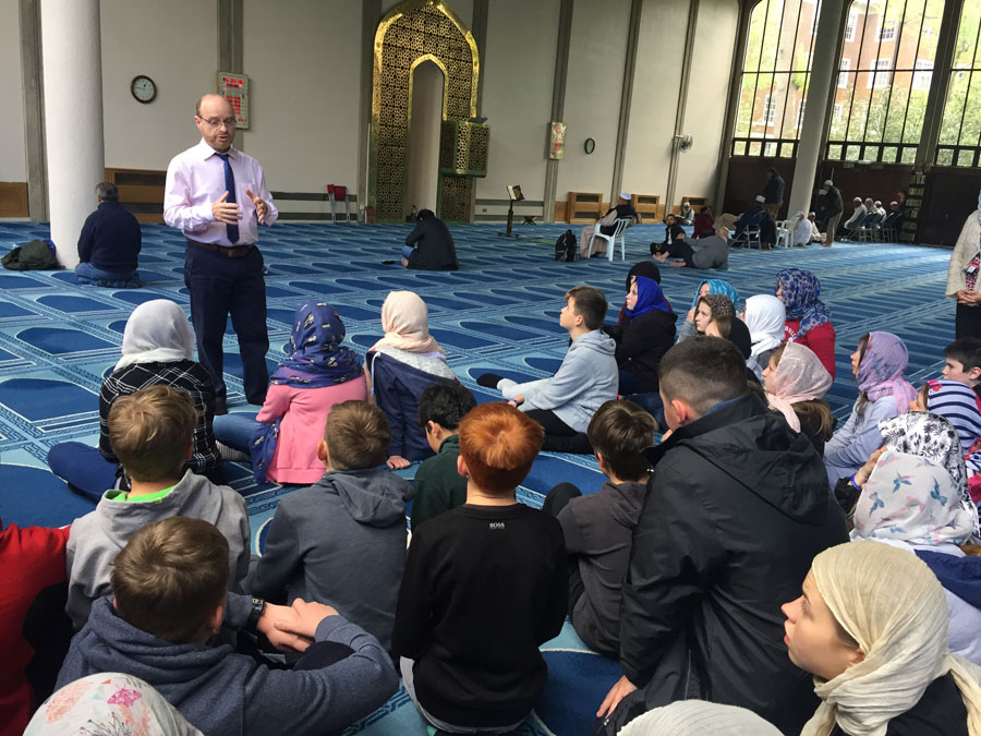 Students inside London Central Mosque website