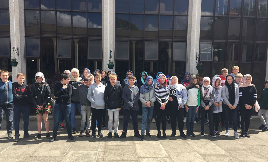 Students outside London Central Mosque website
