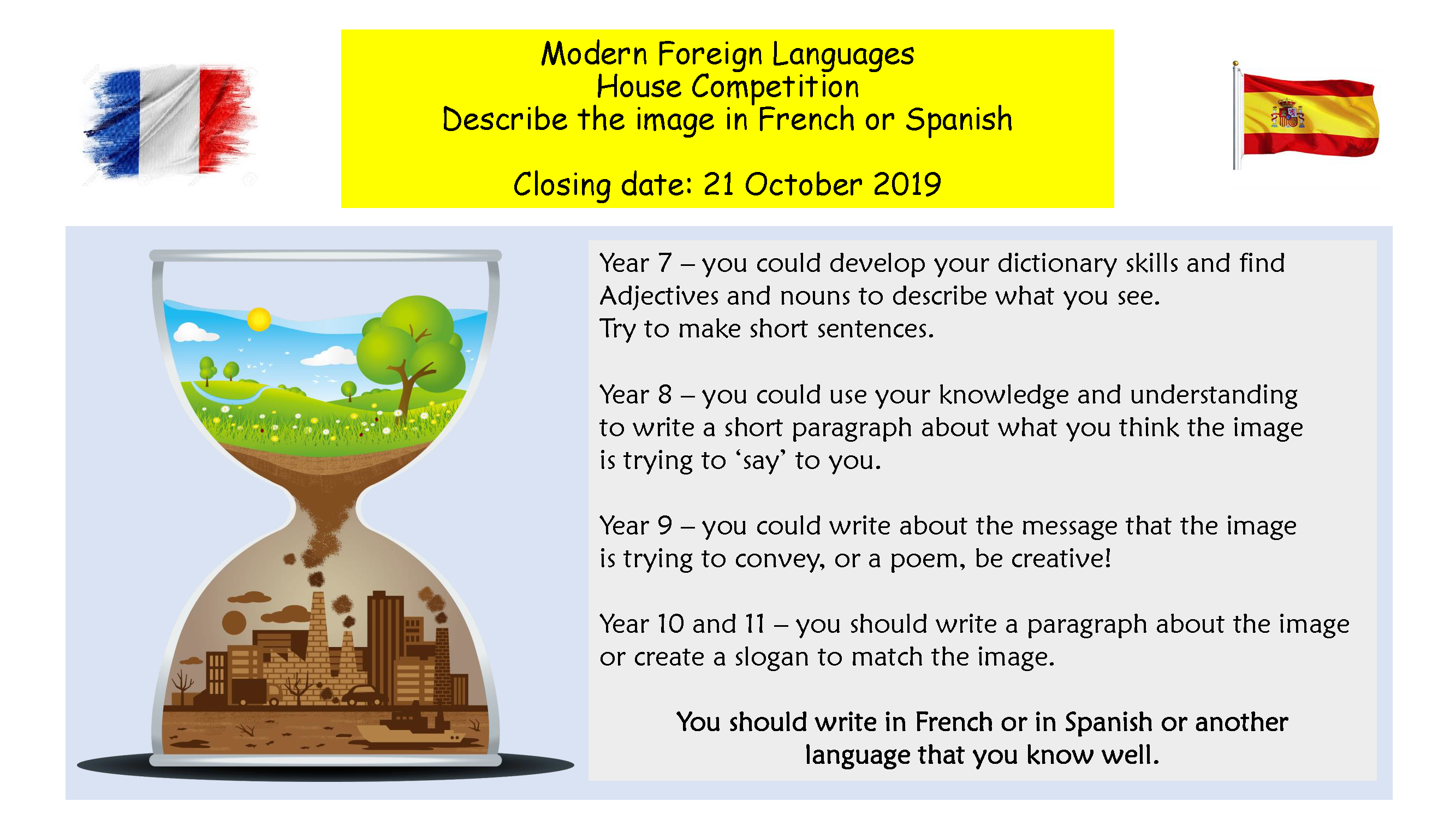 MFL House competition Poster October 2019 002